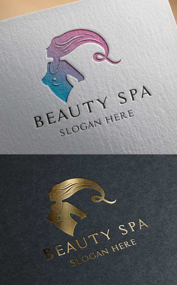 Beauty Spa Salon Logo Template