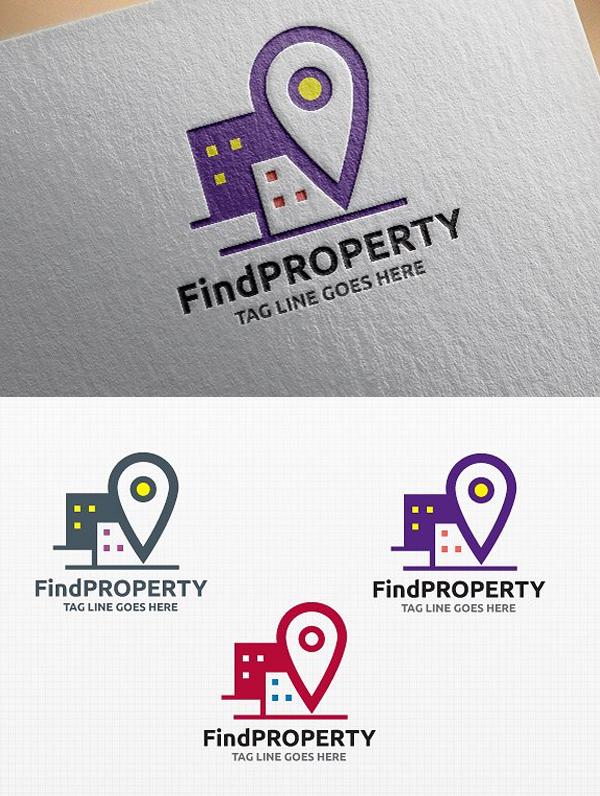 Find Property Logo Template