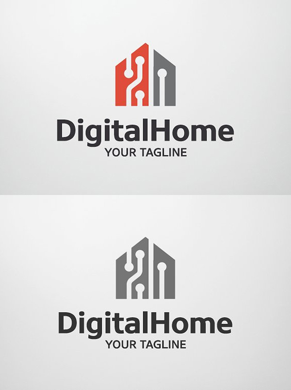 Digital Home - Smart Home Logo Template