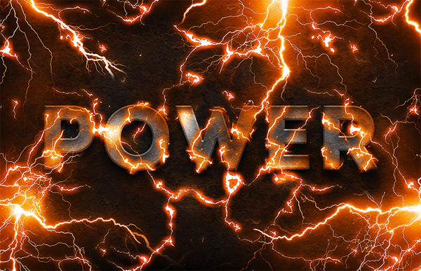 How to Create a Electric Lightning Text Effect In Photoshop