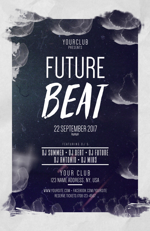 Future Beat Free PSD Flyers Template