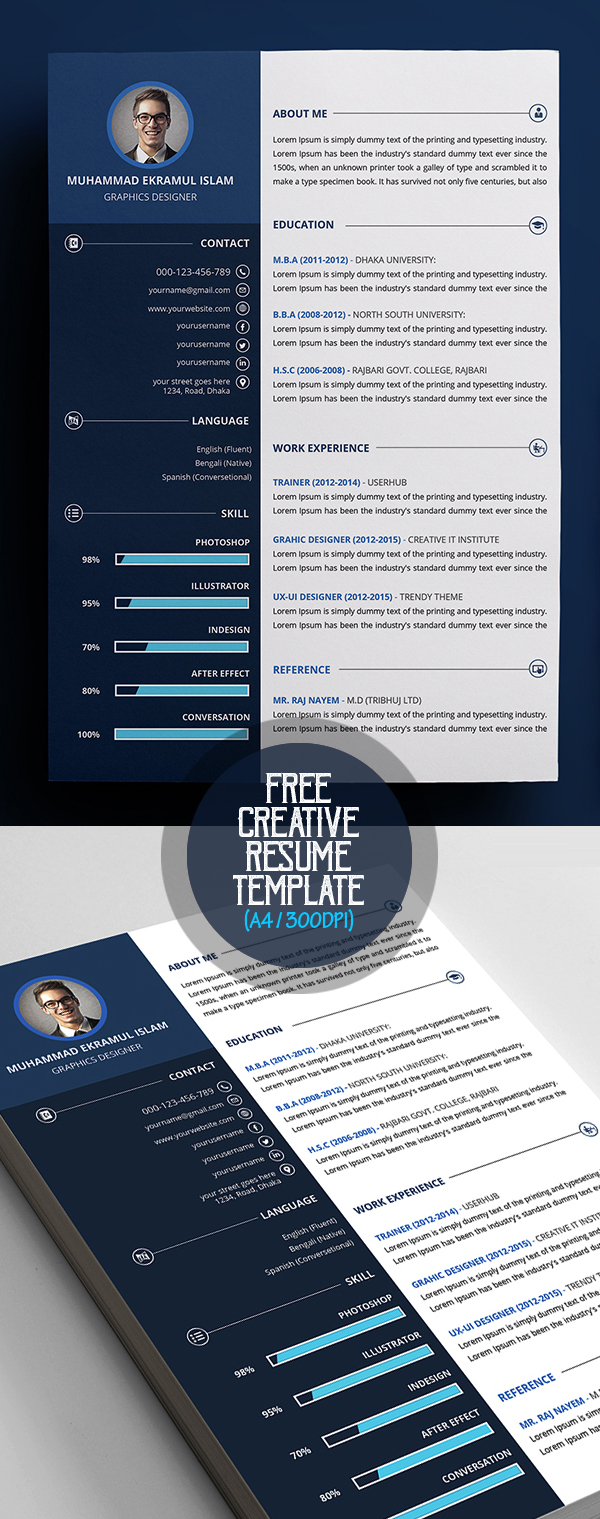 50 Free Resume Templates: Best Of 2018 -  42