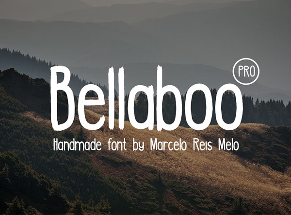 Bellaboo PRO Free Brush Font