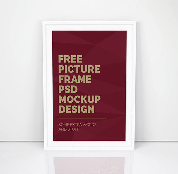 Free Simple Artwork Frame PSD Mockup