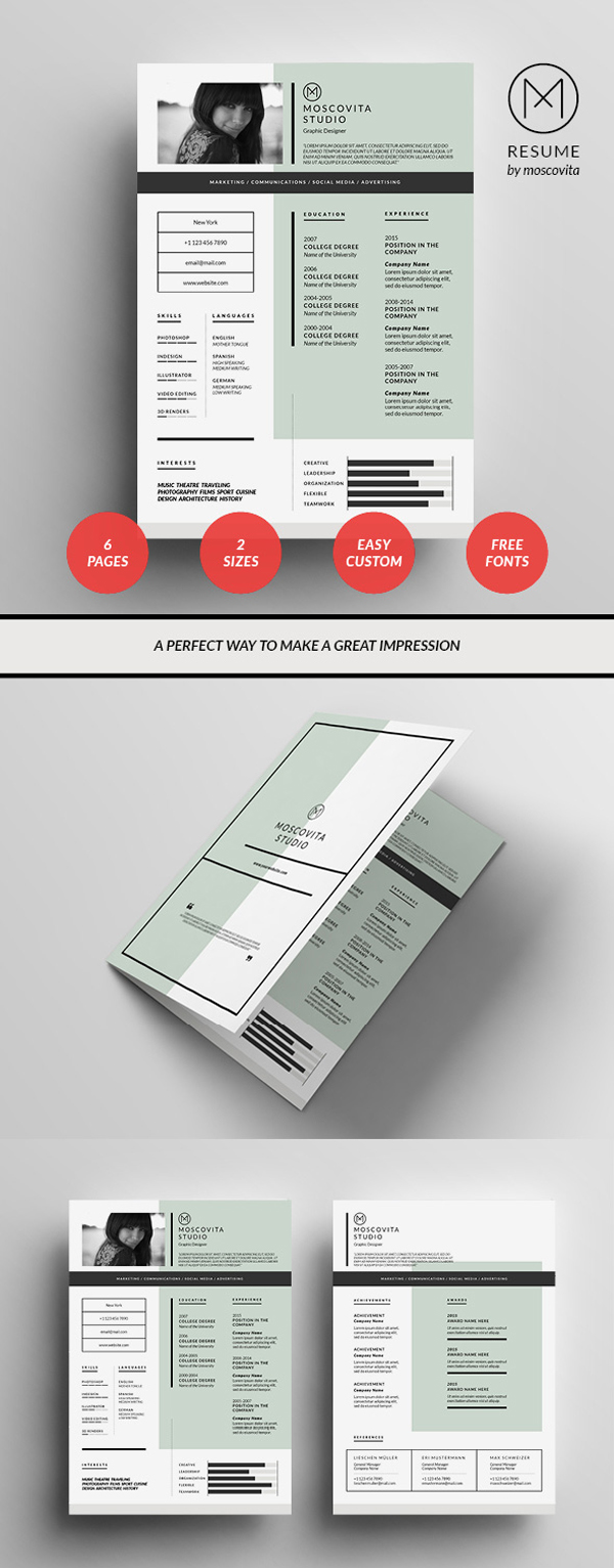 resume template design - Free Designer Resume Templates
