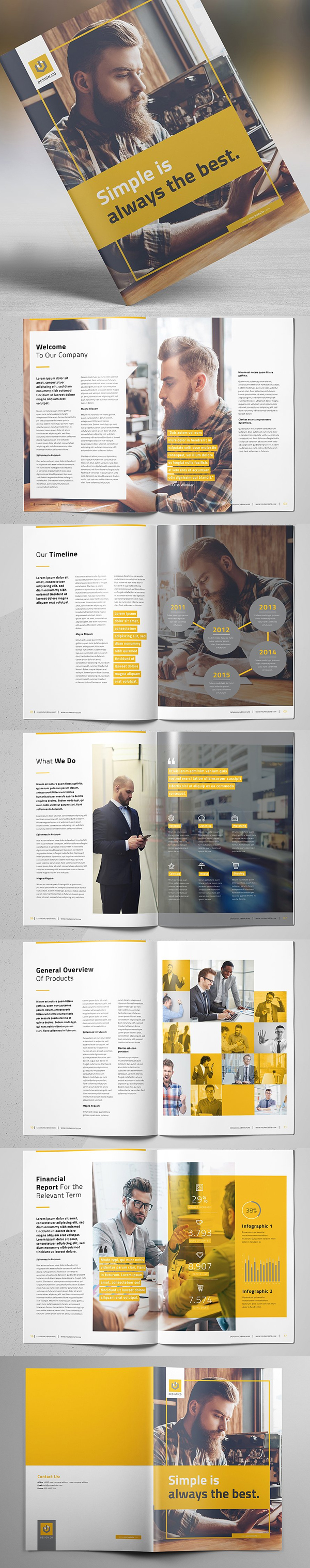 100 Professional Corporate Brochure Templates - 24
