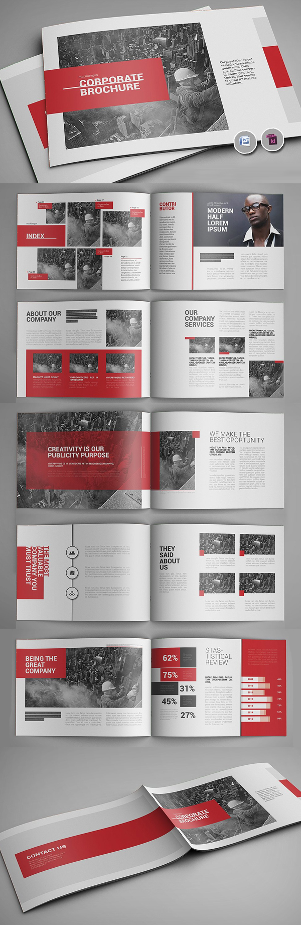 100 Professional Corporate Brochure Templates - 25