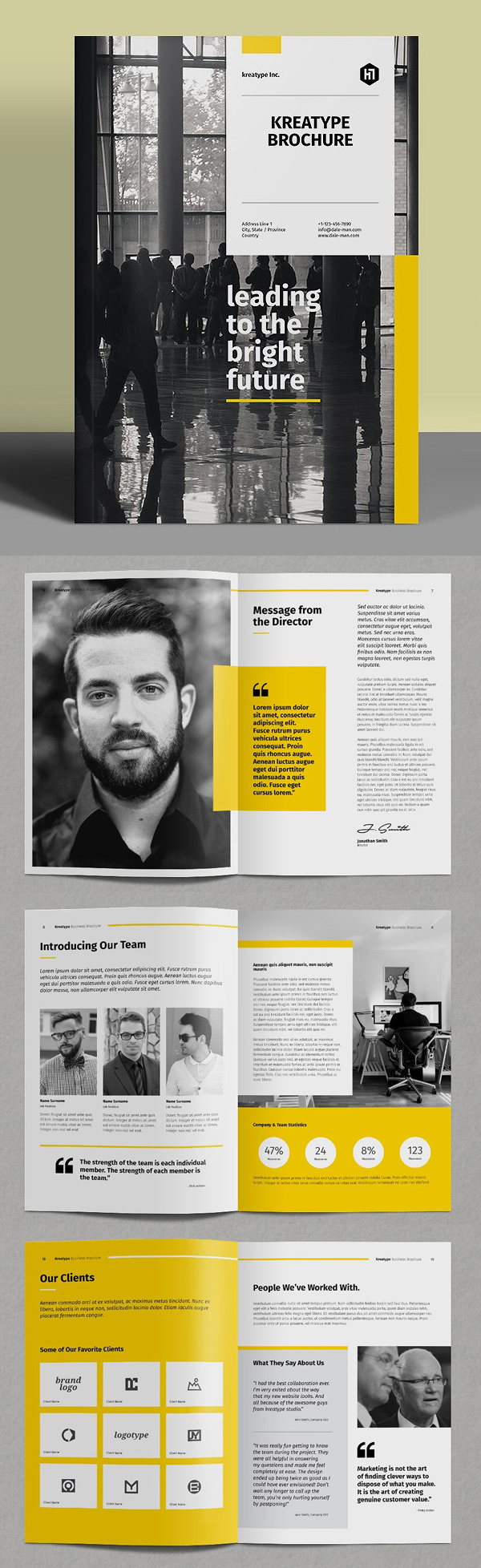 100 Professional Corporate Brochure Templates - 31
