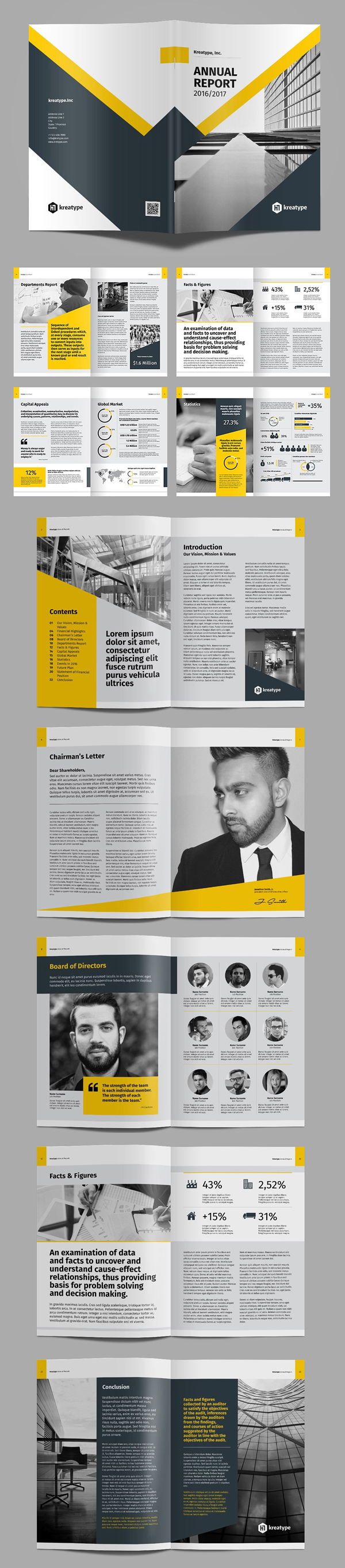 100 Professional Corporate Brochure Templates - 19