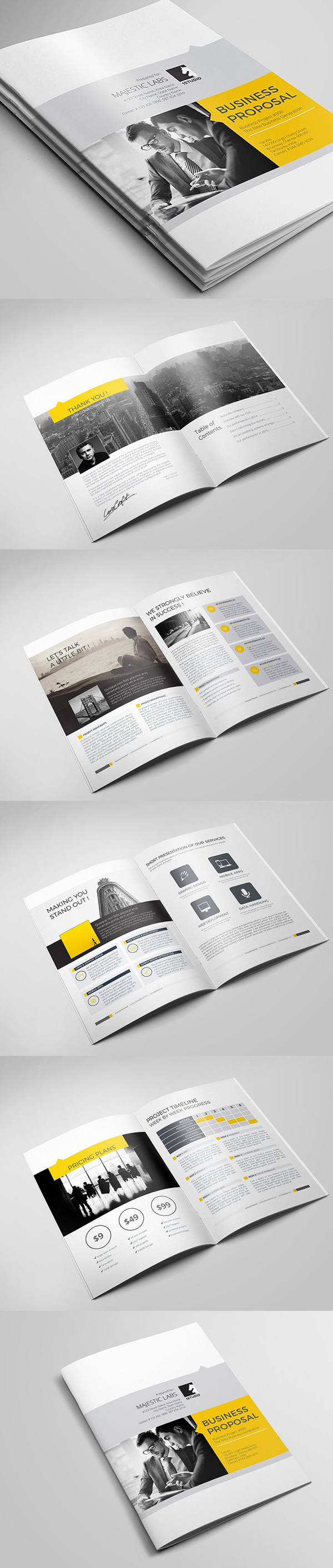 100 Professional Corporate Brochure Templates - 20