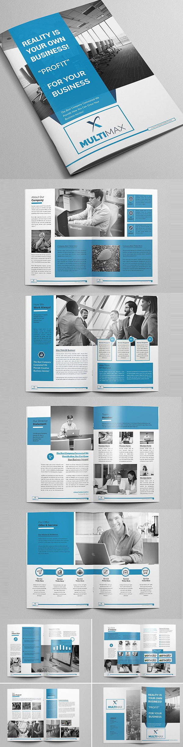 New brochure templates catalog design design graphic for Typography brochure design