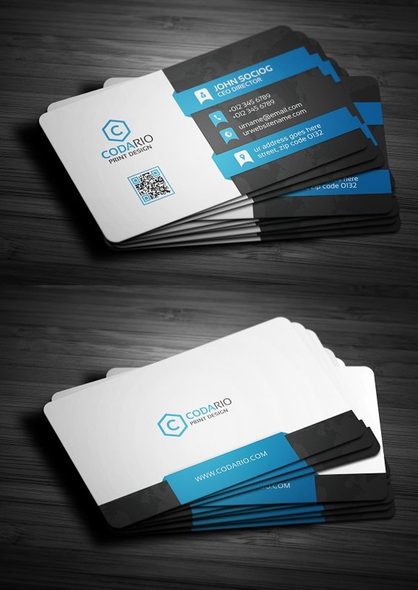 New Professional Business Card Templates Print Ready Design - Professional business card design templates