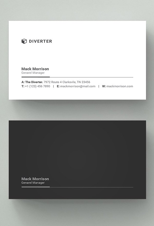 30 Minimalistic Business Card Designs (Psd) Templates | Design