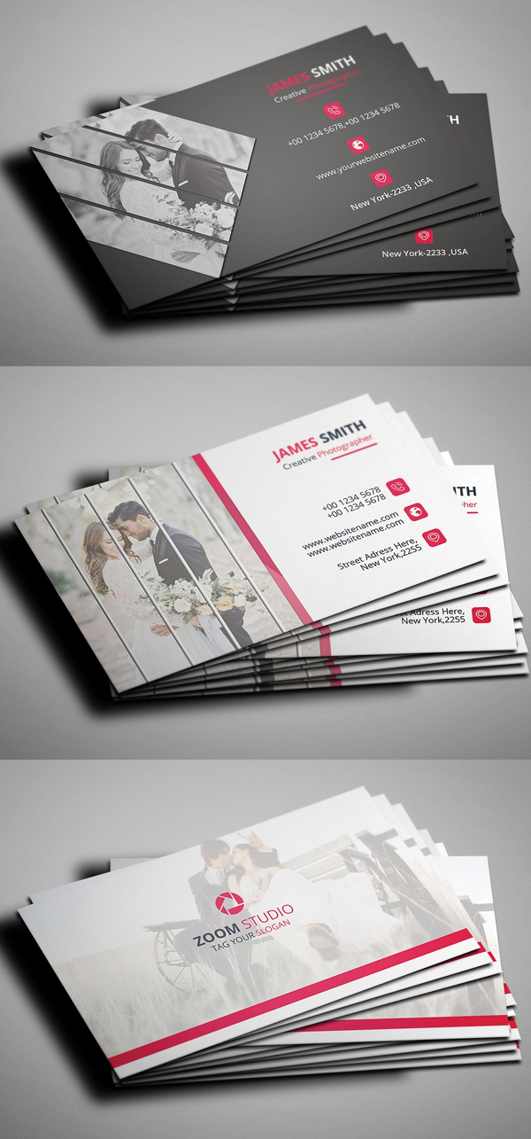 Photography Business Card PSD Template