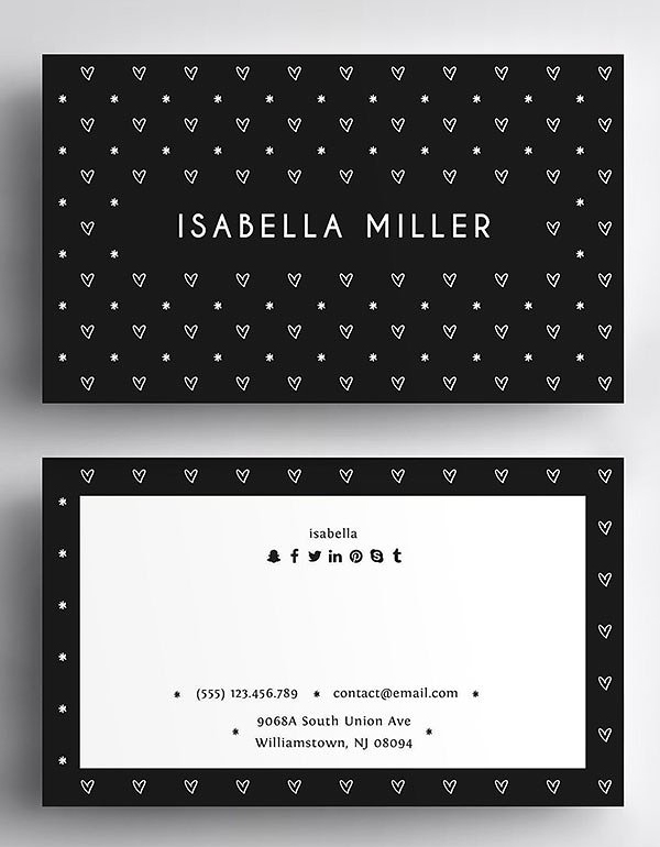 Minimal Love Business Card Template
