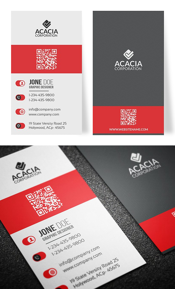25 new professional business card templates print ready design vertical business card template design fbccfo Gallery