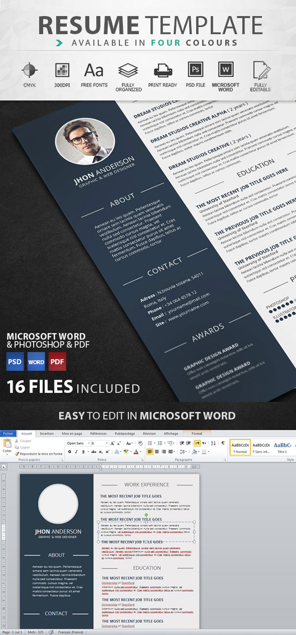 50 Best Resume Templates | Design | Graphic Design Junction