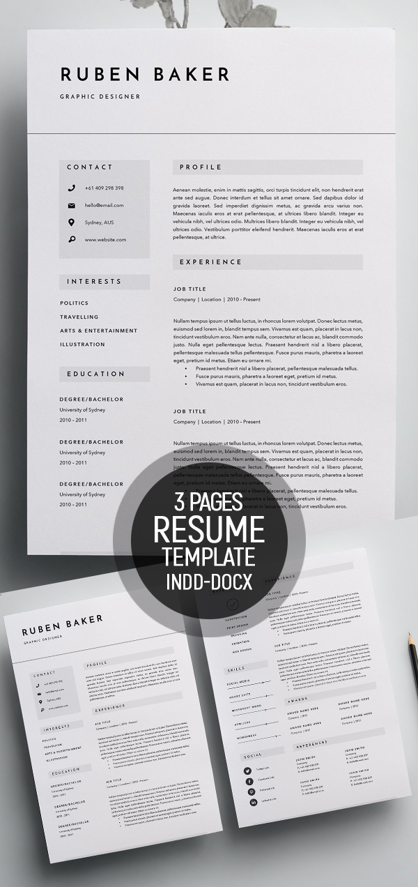 50 Best Minimal Resume Templates - 50