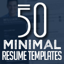 Post thumbnail of 50 Best Minimal Resume Templates