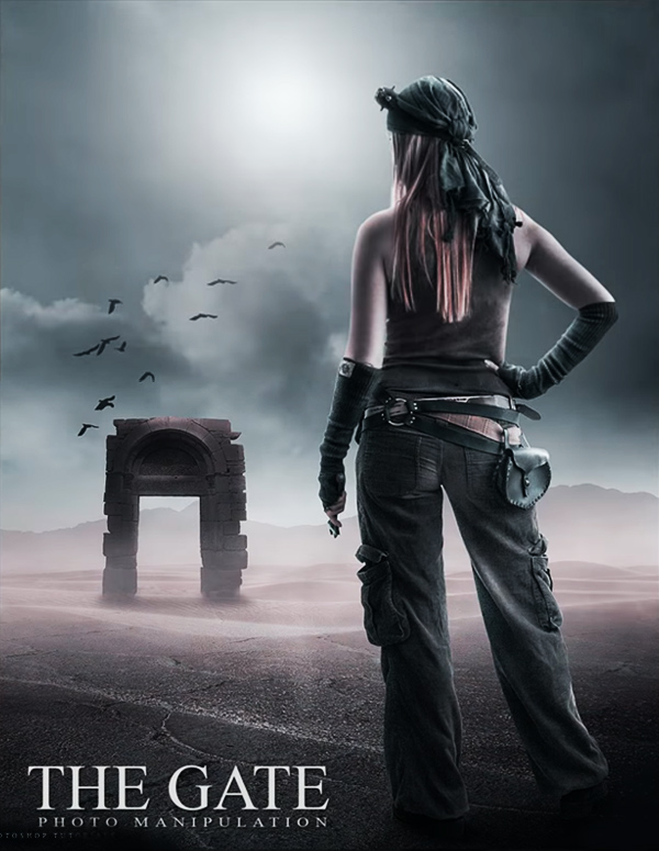 How to Create Photo Manipulation Called Gate in Photoshop