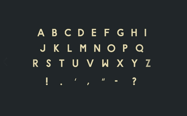 HYPE Font Letters