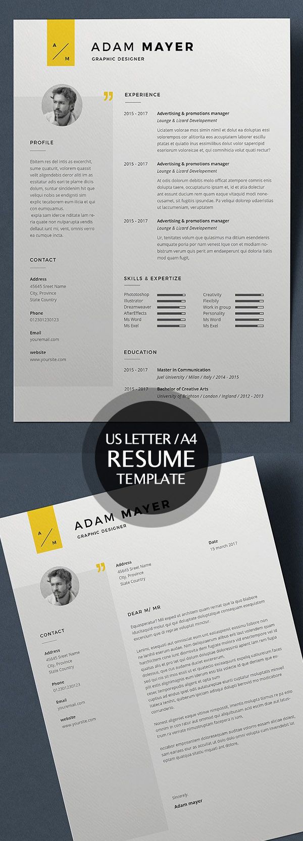 50 Best Minimal Resume Templates - 3