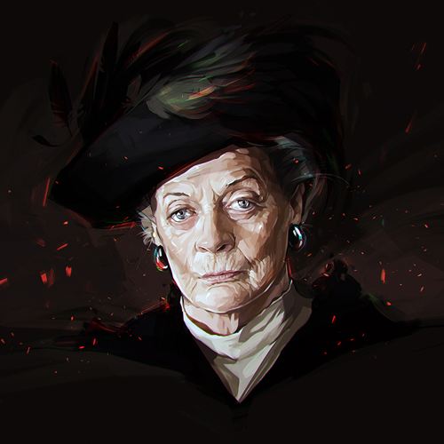 Maggie Smith Portrait