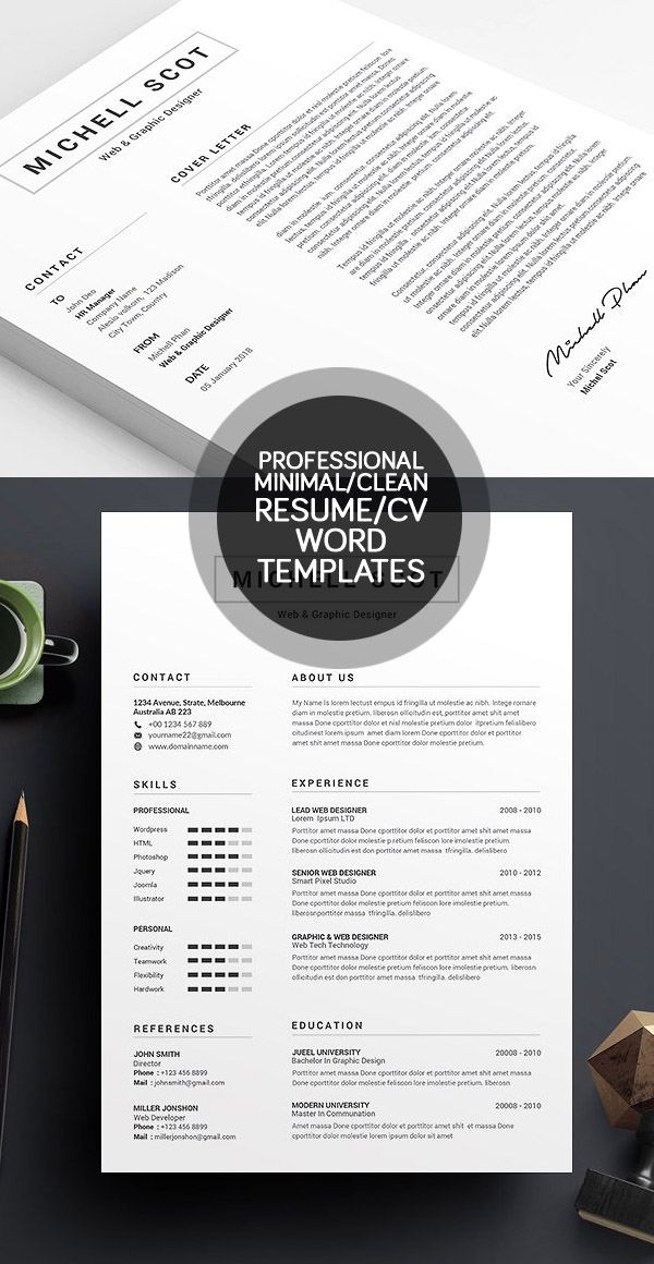 creative resume templates free download best minimal graphic design cv