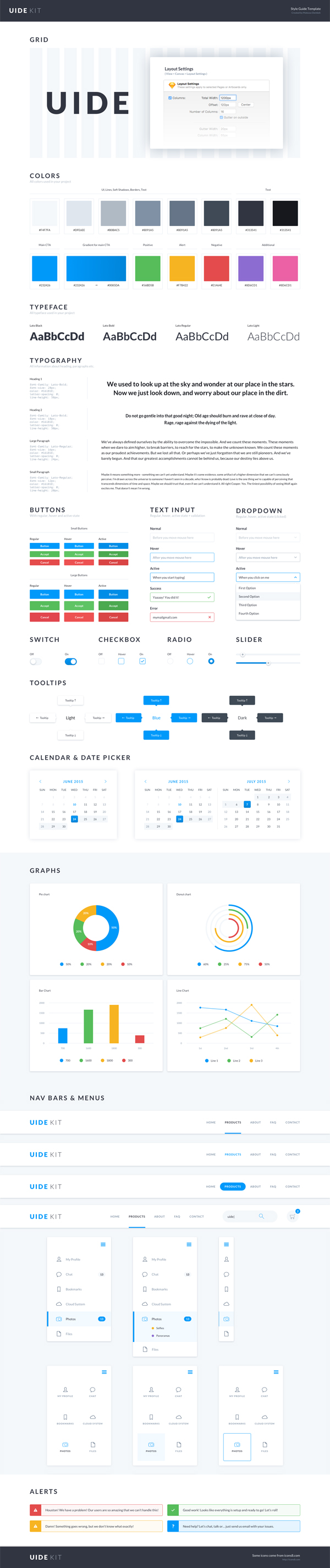 Free UIDE Kit (Style Guide Template)