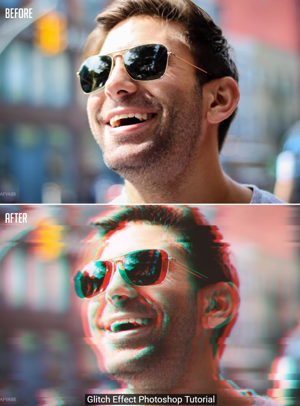 How to Create Glitch Effect Photoshop Tutorial