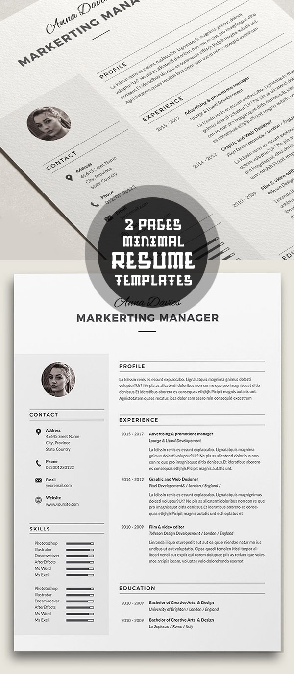 50 best minimal resume templates