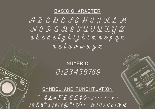 Andara Free Font Letters