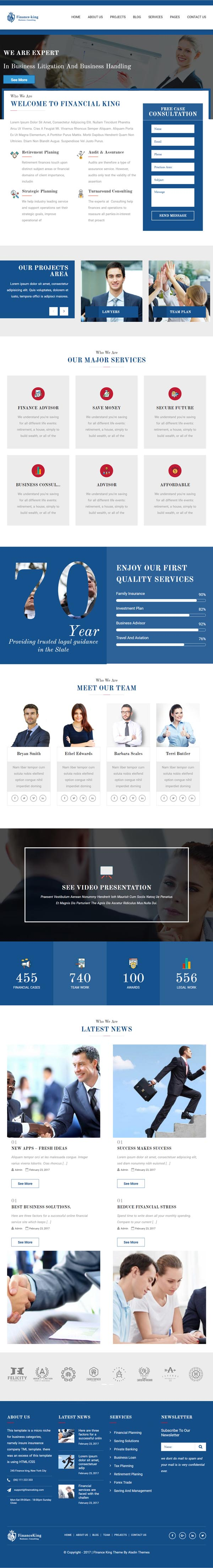 Financial King Corporate WordPress Theme : Finance WP