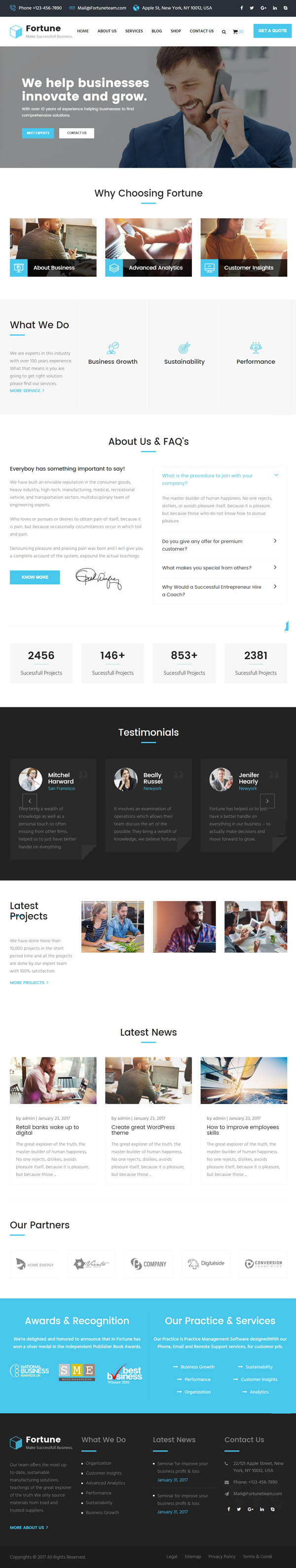 Fortune : Business Consulting and Professional Services WordPress Theme