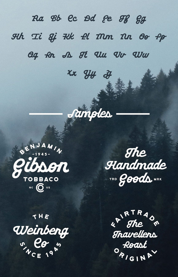 Gritstone Free Font Letters