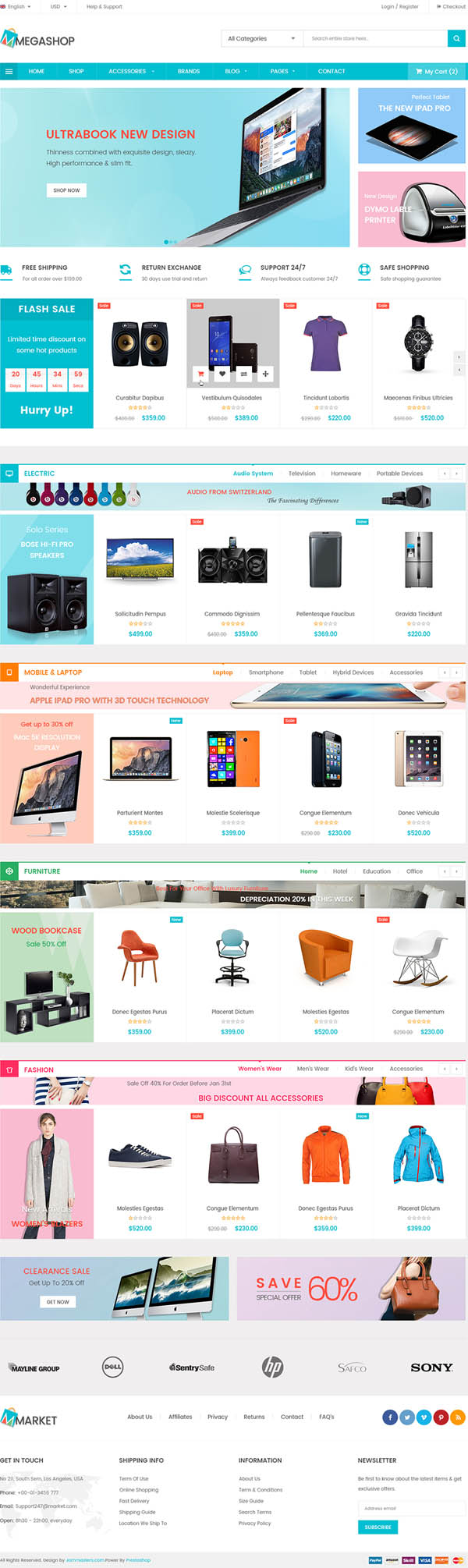 JMS Megashop : Multipurpose Responsive WordPress Theme