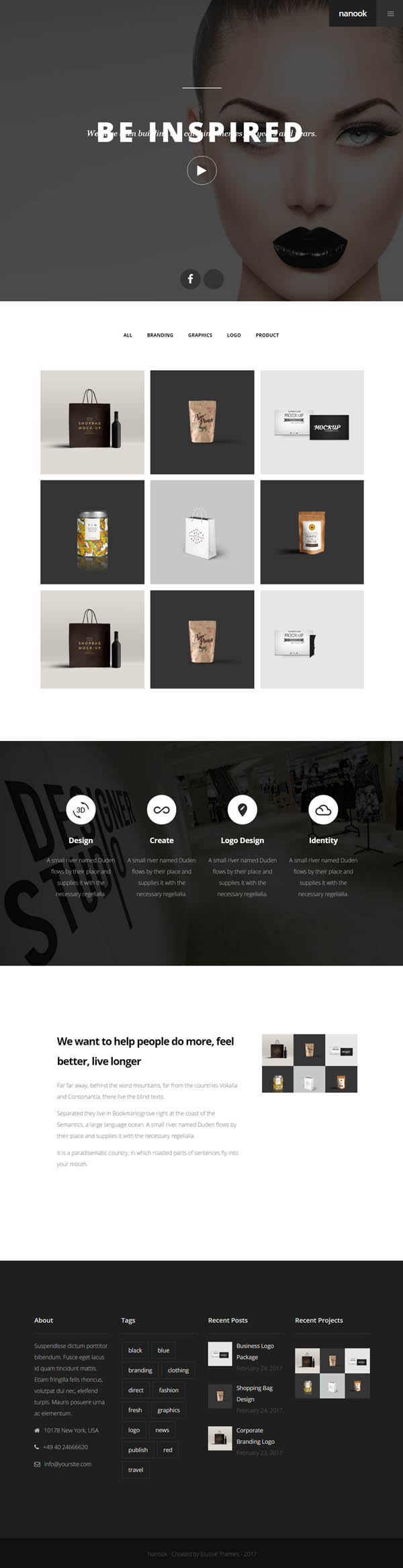 Nanook : Creative Modern Multipurpose WordPress Theme