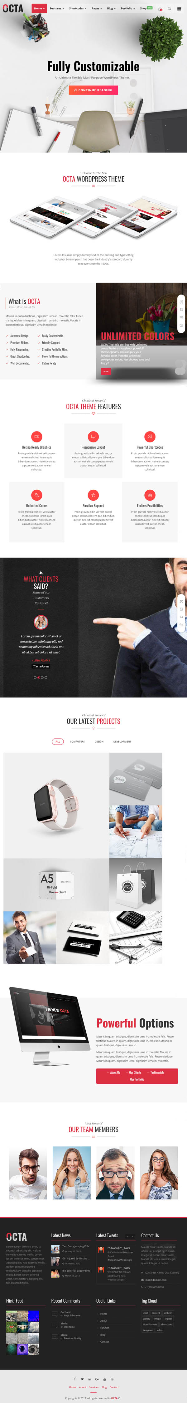 OCTA : Multipurpose WordPress Theme