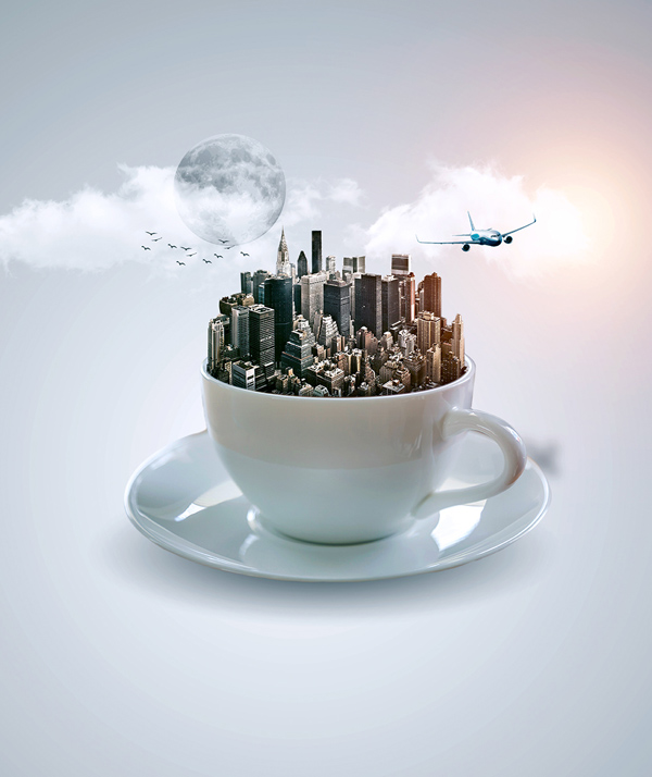 How to Create Fantasy Cup Photo Manipulation Photoshop Tutorial