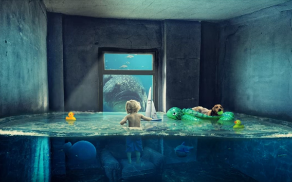 How to Create Fantasy Water Room in Photoshop Tutorial