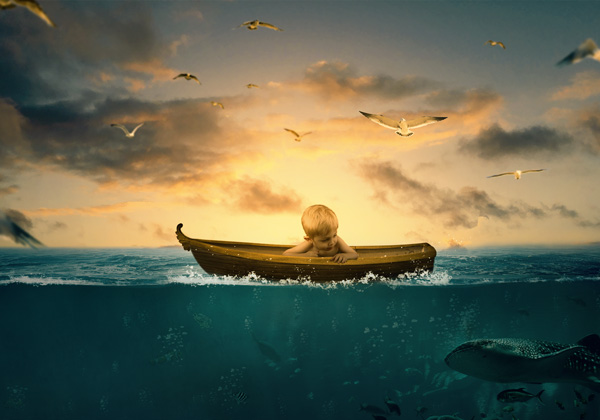 Create a Surreal Underwater Photo Manipulation in Photoshop