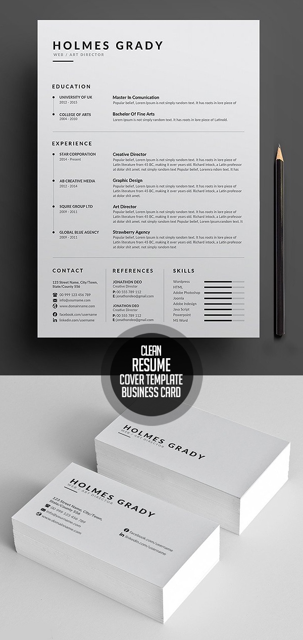Simple and Clean Resume CV Template