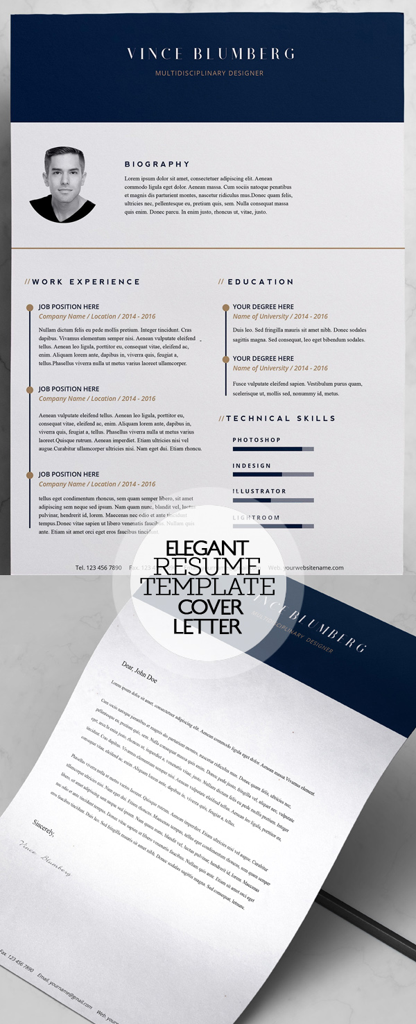 elegant resume template and cover letter - Resume Template Cover Letter