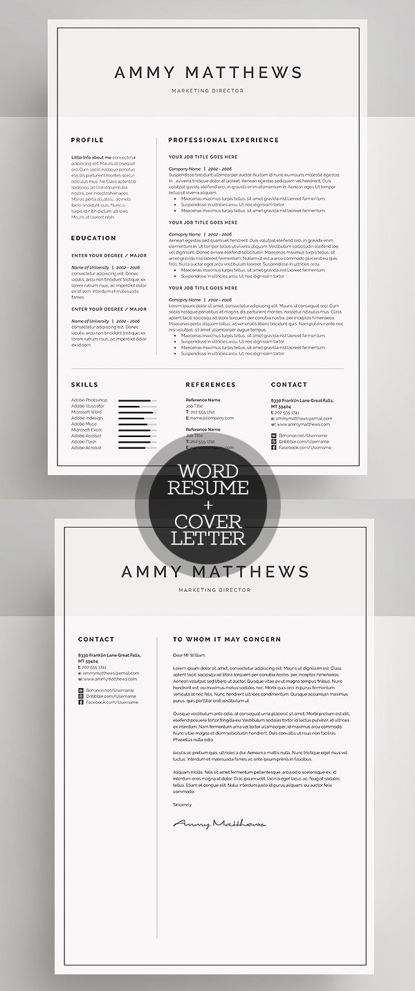 Custodian Resume Pdf New Clean Resume Templates With Cover Letter  Design  Graphic  How To Write A Good Cover Letter For A Resume Pdf with Resume Volunteer Word Word Resume  Cover Letter Template A Perfect Resume