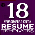 18 New Clean CV / Resume Templates with Cover Letter
