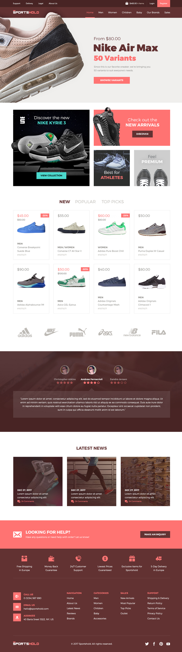 Free Ecommerce Landing PSD Template