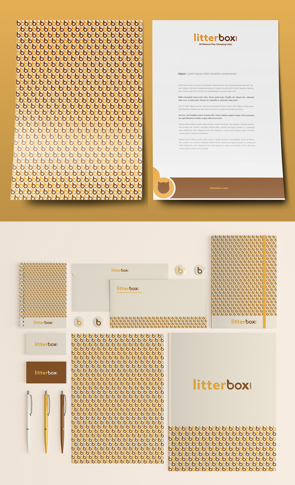 Branding: Litterbox - Stationary Items