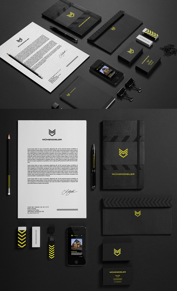 Branding: Muhendisler - Stationary Items