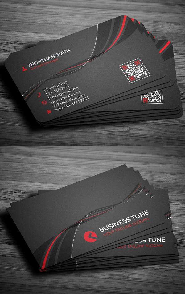 27 New Professional Business Card Psd Templates Design Graphic
