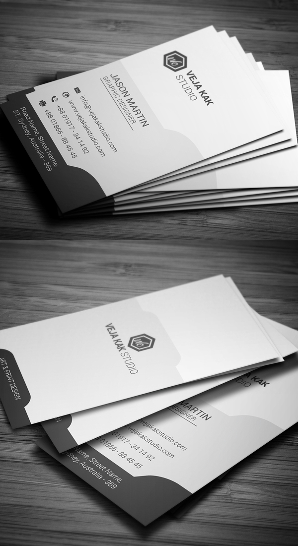 Sleek Vertical Business Card